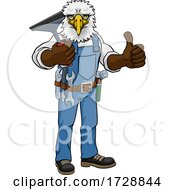 Eagle Car Or Window Cleaner Holding Squeegee