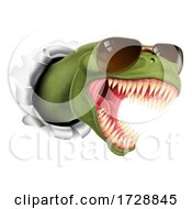 Cool Dinosaur Wearing Shades Sunglasses by AtStockIllustration