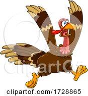 Poster, Art Print Of Crazy Running Turkey Bird