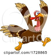 Crazy Running Turkey Bird by Hit Toon