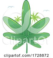 Cannabis Marijuana Pot Leaf Made Of Surfboards