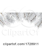 Silver Christmas Tree Branches Design