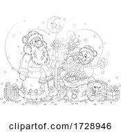 Santa And A Snowman