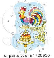 Poster, Art Print Of Rooster Bell In The Snow