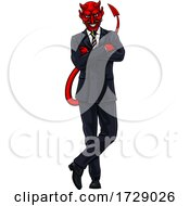 Devil Evil Businessman In Suit by AtStockIllustration