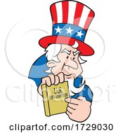 Uncle Same Holding The US Constitution
