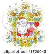 Santa In A Window