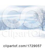Poster, Art Print Of 3d Winter Snowy Landscape