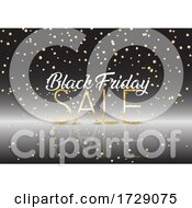 Black Friday Sale Background With Gold Confetti