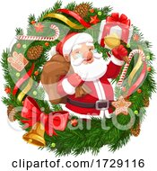 Santa In A Wreath