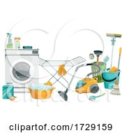 Poster, Art Print Of Cleaning Supplies