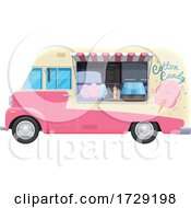 Cotton Candy Food Vendor Truck by Vector Tradition SM