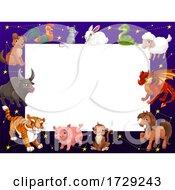 Poster, Art Print Of Chinese Zodiac Border