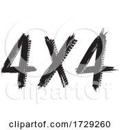 Four X Four Tire Tracks Design