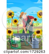Farmer In A Garden