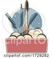 Retro Space Exploration Logo