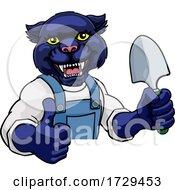 Panther Gardener Gardening Animal Mascot