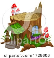 Stump Fairy House by Vector Tradition SM