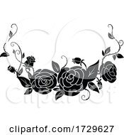 Black And White Rose Border