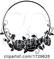 Black And White Rose Frame