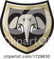Elephant Head Shield Icon