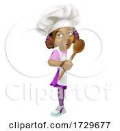 Black Girl Cartoon Child Chef Kid Sign