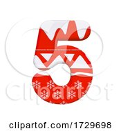 Christmas Number 5 3d Xmas Digit Suitable For Celebration Santa Claus Or Winter Related Subjectson A White Background