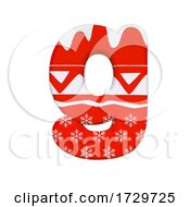 Christmas Letter G Small 3d Xmas Suitable For Celebration Santa Claus Or Winter Related Subjects On A White Background