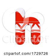 Christmas Letter H Lowercase 3d Xmas Suitable For Celebration Santa Claus Or Winter Related Subjects On A White Background