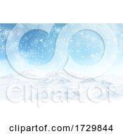 3D Snowy Christmas Landscape