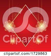Sparkling Christmas Snowflake Background