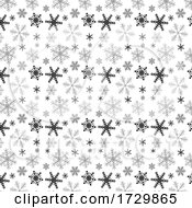 Christmas Snowflake Pattern Design Background