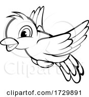 Cute Black And White Flying Bird