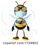 3d Coronavirus Bee On A White Background