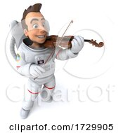 Poster, Art Print Of 3d Astronaut On A White Background