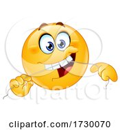 Poster, Art Print Of Emoji Smiley Face Flossing His Teeth