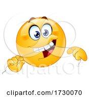 Emoji Smiley Face Flossing His Teeth