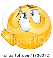 Poster, Art Print Of Emoji Smiley Face Looking Worried Or Depressed