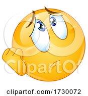 Emoji Smiley Face Looking Worried Or Depressed