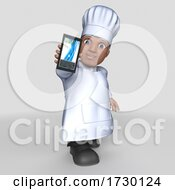3d Male Baker Or Chef On A Shaded Background