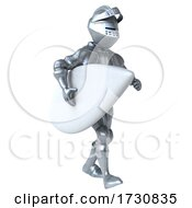 3d Armored Knight On A White Background