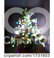 Christmas Background With Defocussed Tree And Lights