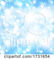 Christmas Background With Falling Snowflakes