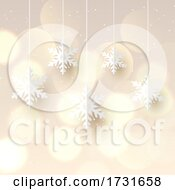 Christmas Background With Hanging Snowflakes 0911