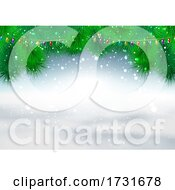 Poster, Art Print Of Christmas Snowy Background
