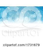 Christmas Snowy Landscape Background
