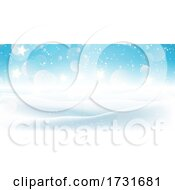 Christmas Snowy Landscape Banner Design