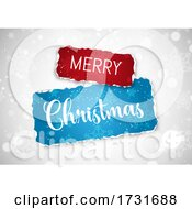 Christmas Background With Torn Paper Design