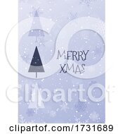 Christmas Card Background With Snowflake Design