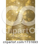 Poster, Art Print Of Elegant Christmas Card Background With Christmas Tree Design 2611